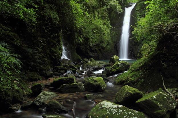 写真: 小滝・・水量が少なくなっている