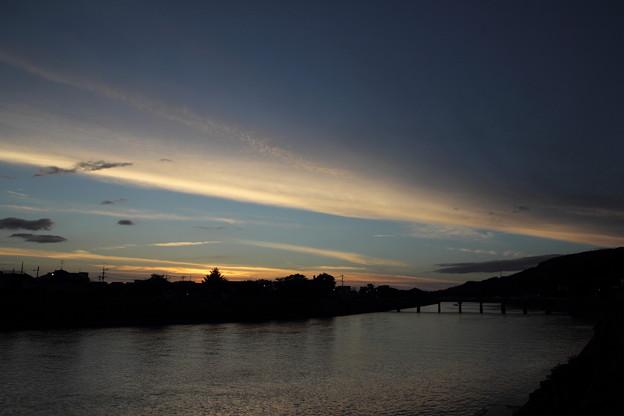 写真: 夕焼けはだめでした
