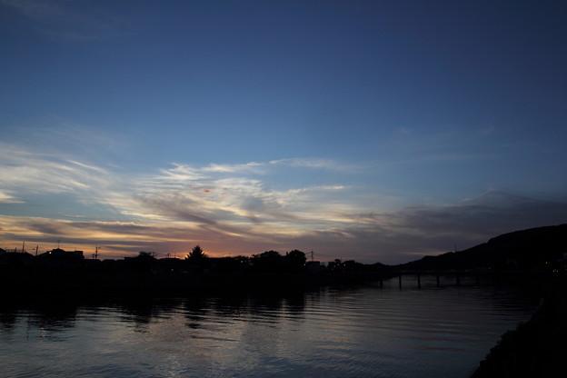 写真: 今日も夕焼けはなし