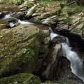 なべ滝下流の孫滝