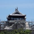 今の熊本城・・最上階は完成