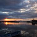 Photos: 丸島漁港からの夕日