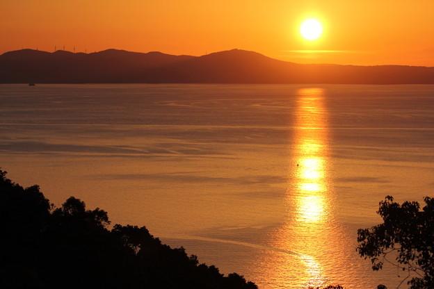 不知火海の夕日