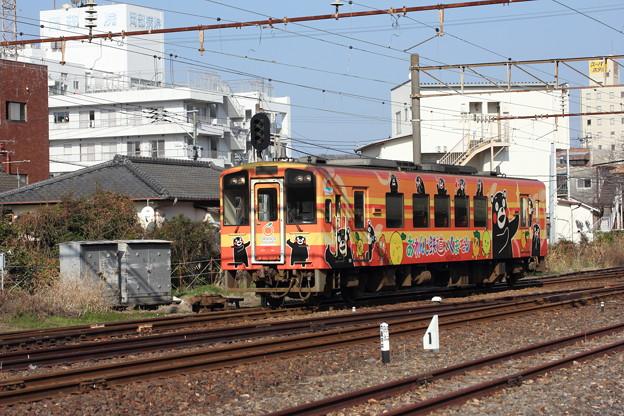 くまモン列車・・水俣駅