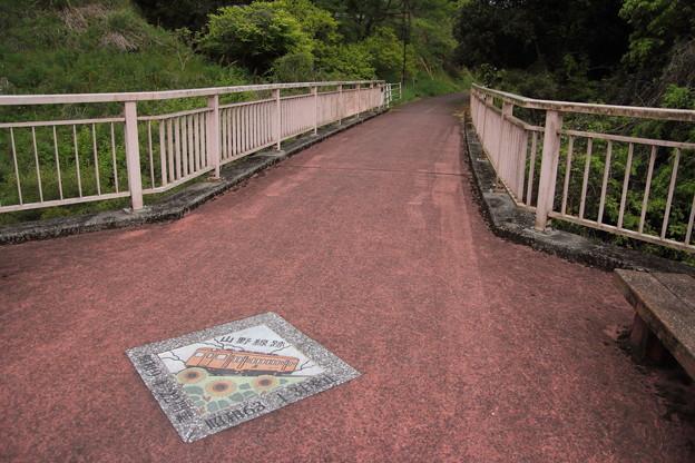 遊歩道は山野線跡