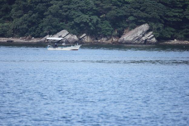 釣り人・・恋路島
