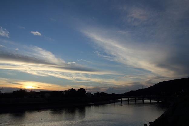 水俣川黄昏時