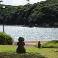 水俣病慰霊碑横の石像