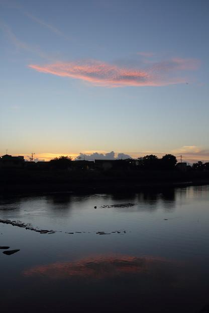 水俣川の夕焼け