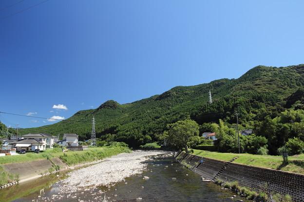水俣川夏空