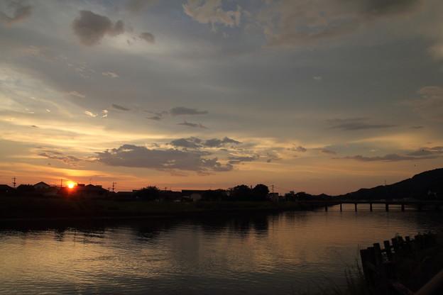 落陽・・水俣川