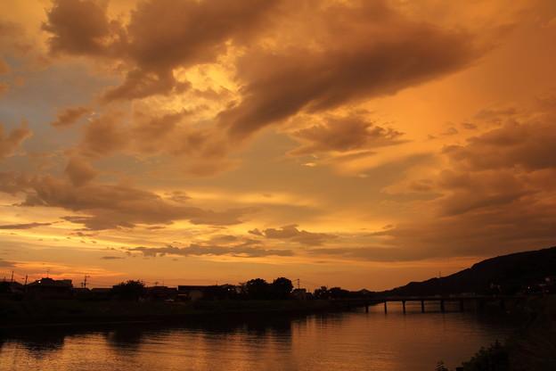 夕焼け・・水俣川