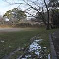 雪が残る日陰・・城山公園