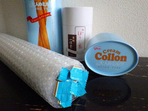 写真: 長~いコロン梱包