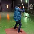 Photos: およめ選手ホームラン狙い