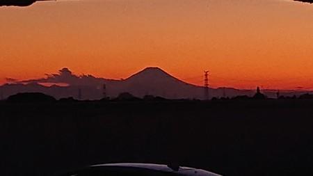 スノームーン時の富士山