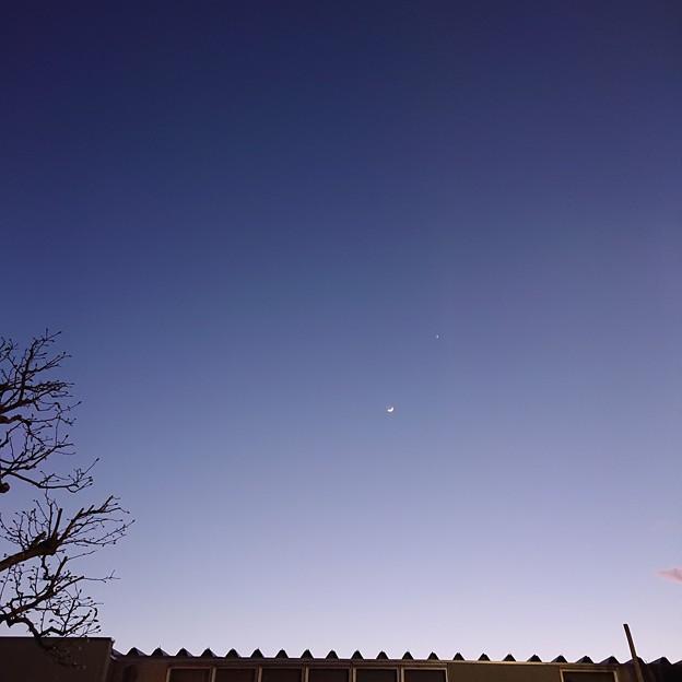 金星と四日月