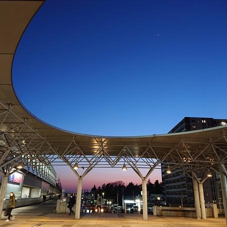 ターミナル夕景