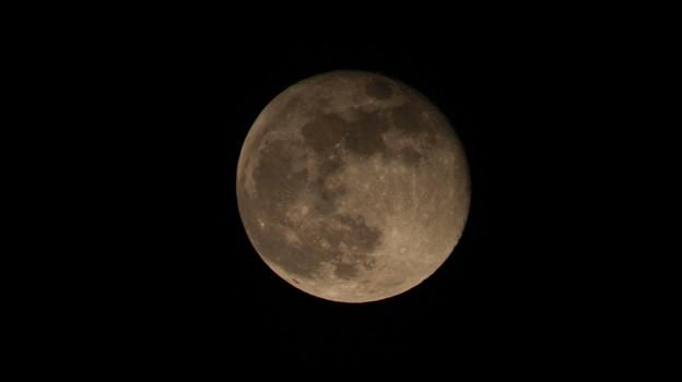 十六夜の月クレーターに宇宙を感じる