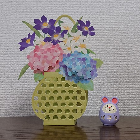紫陽花の花籠