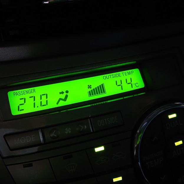 車外温度44℃