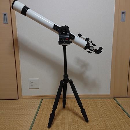 ミザール屈折望遠鏡を取り付けた