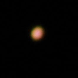 最接近中の火星