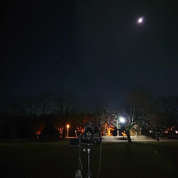 Photos: 秋の月はスッキリ見えた