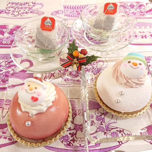 雪だるまケーキたち