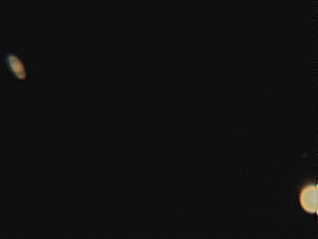 土星と木星最接近(12月22日)