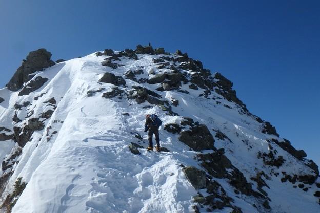 西穂高岳へ。