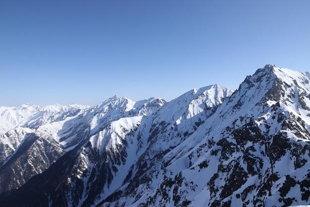 西穂高岳からの眺望。
