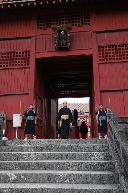 首里城開門の儀式