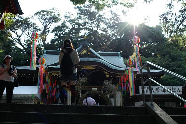 七夕飾りの神社