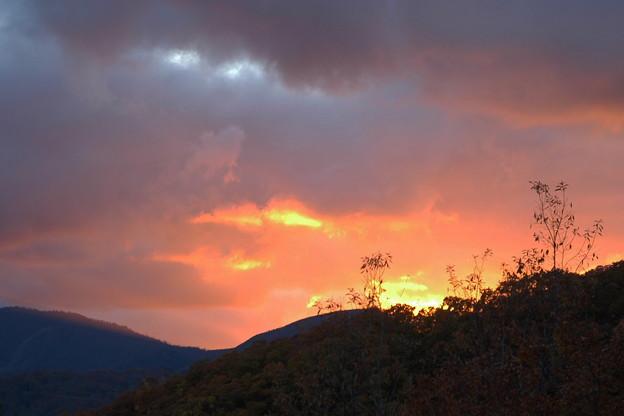 恐羅漢山の夕焼け(2)
