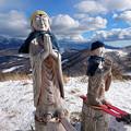 スキー地蔵に安全祈願