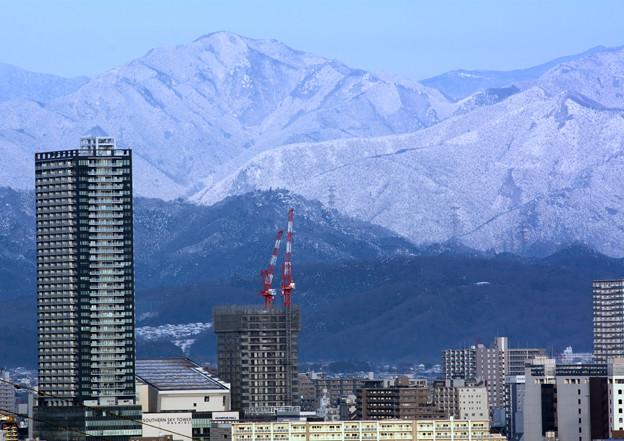 雪山と背くらべ