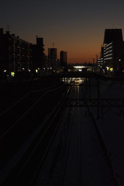 冬の夜明け前