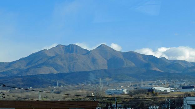 八ヶ岳を車窓に見ながら