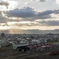 写真: 天上界からの朝日