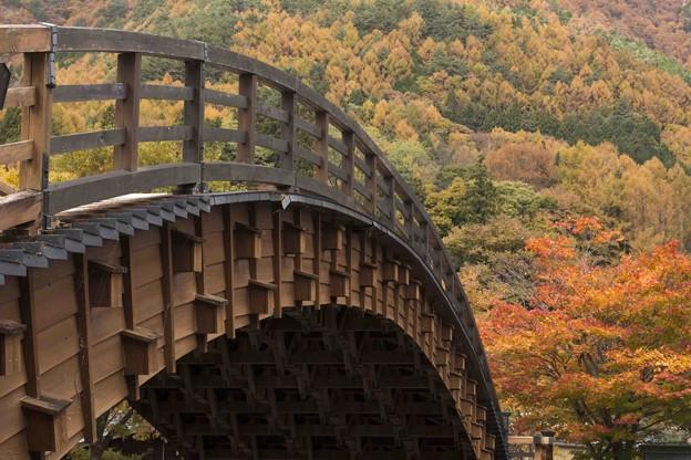 晩秋の木曾の大橋