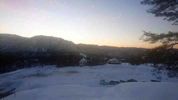 小谷村の朝