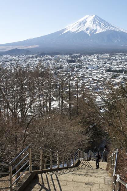 富士山に励まされ