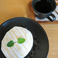 自慢のコーヒーとパンケーキ