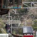 写真: 列車交換