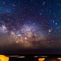 写真: 天の川&木星