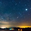 写真: 銀河星景