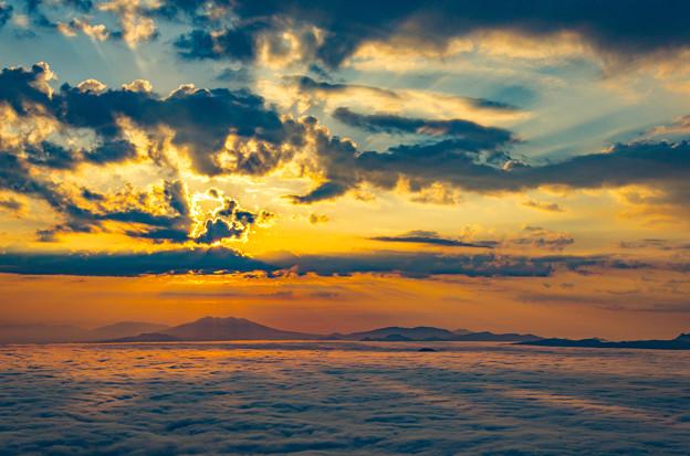 ー雲海と朝焼けー