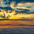 写真: ー雲海と朝焼けー