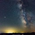 写真: ー天の川と火星ー